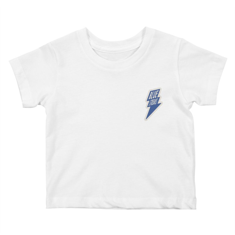 Blue Streaks Lightning Bolt Kids Baby T-Shirt by Shop Sandusky Ink & Cloth