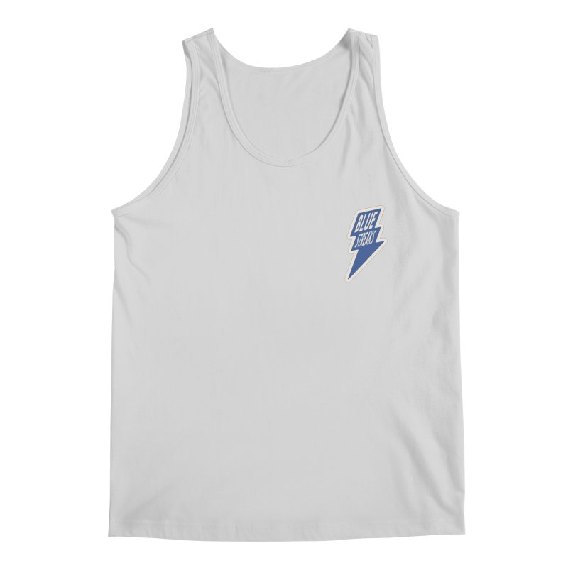 Blue Streaks Lightning Bolt Men's Regular Tank by Shop Sandusky Ink & Cloth