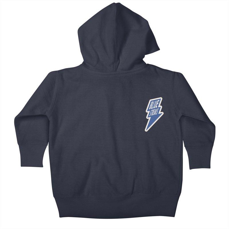 Blue Streaks Lightning Bolt Kids Baby Zip-Up Hoody by Shop Sandusky Ink & Cloth