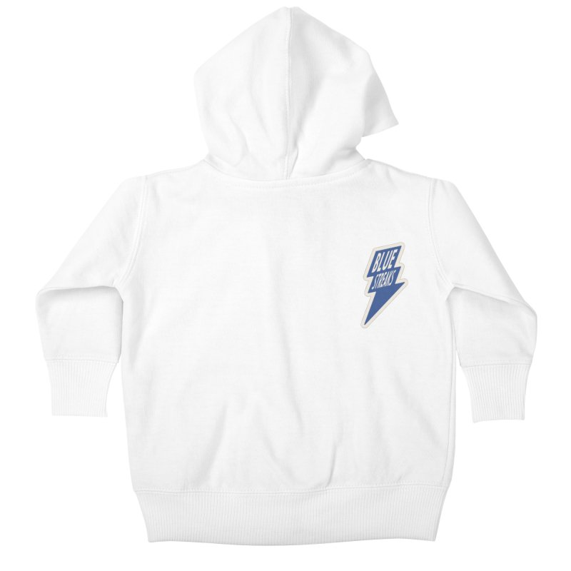 Blue Streaks Lightning Bolt Kids Baby Zip-Up Hoody by Shop Sandusky Ink & Cloth