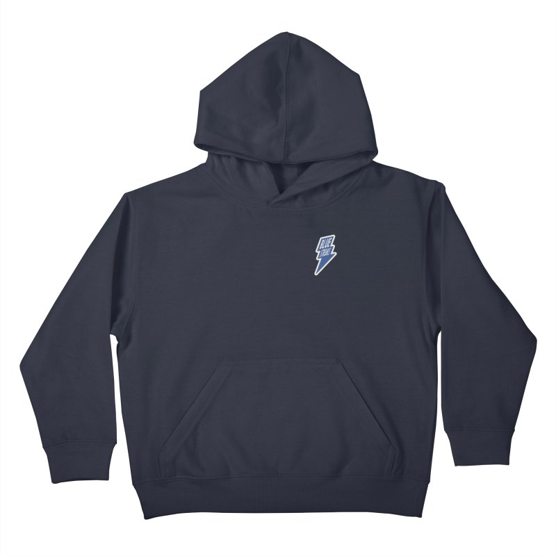 Blue Streaks Lightning Bolt Kids Pullover Hoody by Shop Sandusky Ink & Cloth
