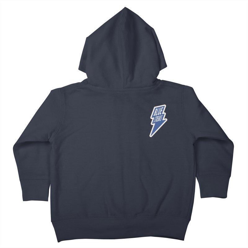 Blue Streaks Lightning Bolt Kids Toddler Zip-Up Hoody by Shop Sandusky Ink & Cloth