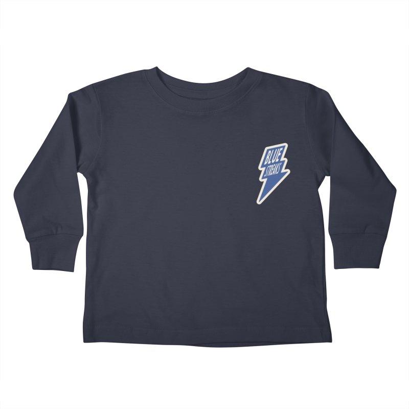 Blue Streaks Lightning Bolt Kids Toddler Longsleeve T-Shirt by Shop Sandusky Ink & Cloth