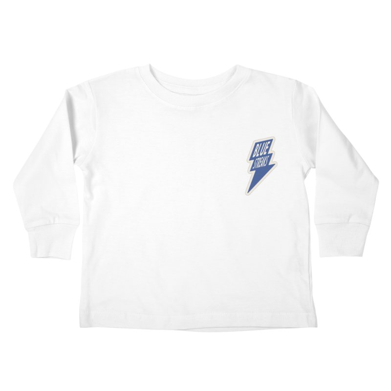 Blue Streaks Lightning Bolt Kids Toddler Longsleeve T-Shirt by Shop Sandusky Ink & Cloth