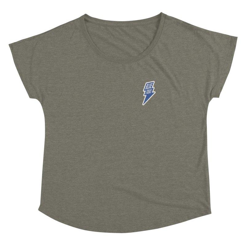 Blue Streaks Lightning Bolt Women's Dolman Scoop Neck by Shop Sandusky Ink & Cloth