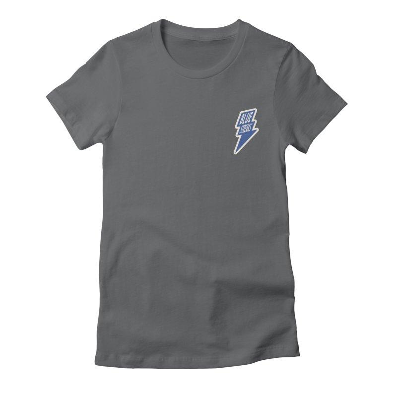 Blue Streaks Lightning Bolt Women's Fitted T-Shirt by Shop Sandusky Ink & Cloth