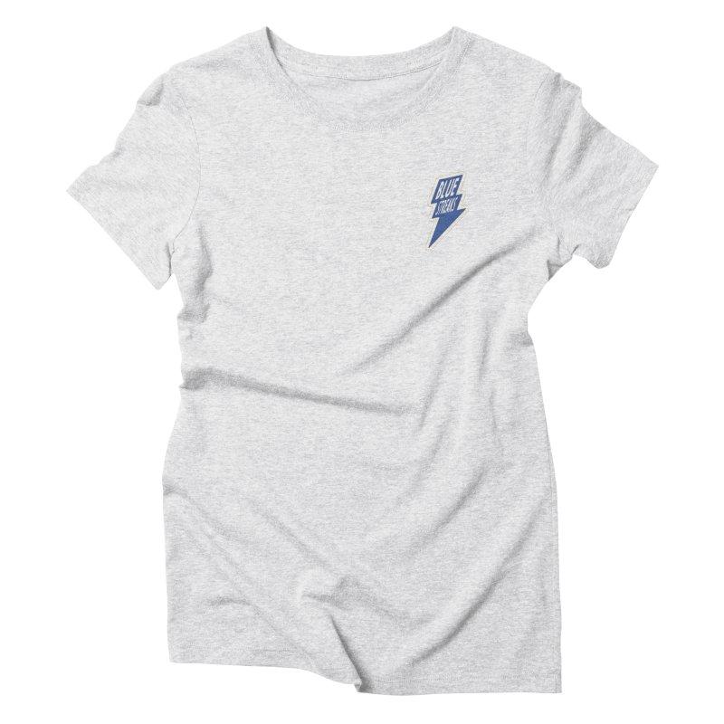 Blue Streaks Lightning Bolt Women's Triblend T-Shirt by Shop Sandusky Ink & Cloth