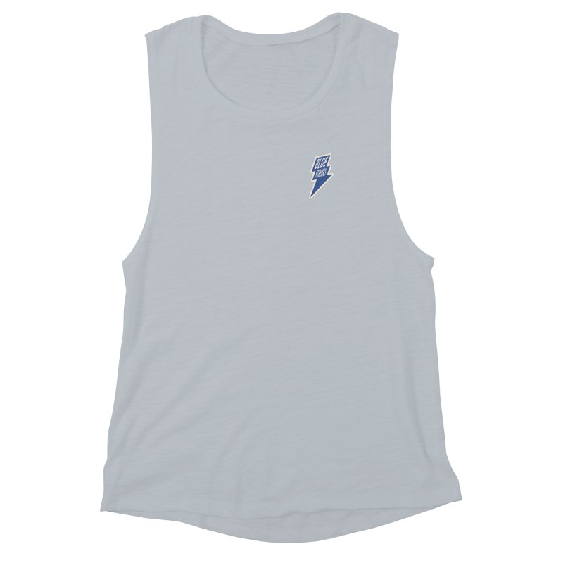 Blue Streaks Lightning Bolt Women's Muscle Tank by Shop Sandusky Ink & Cloth