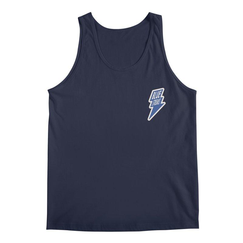 Blue Streaks Lightning Bolt Men's Regular Tank by Shop Sandusky Ink & Cloth