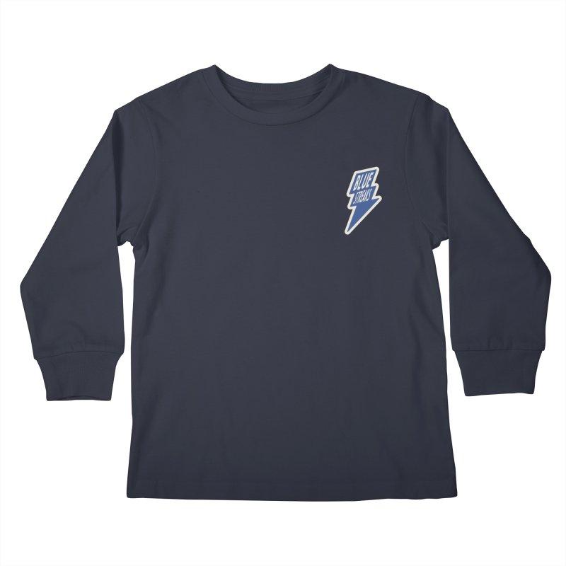 Blue Streaks Lightning Bolt Kids Longsleeve T-Shirt by Shop Sandusky Ink & Cloth