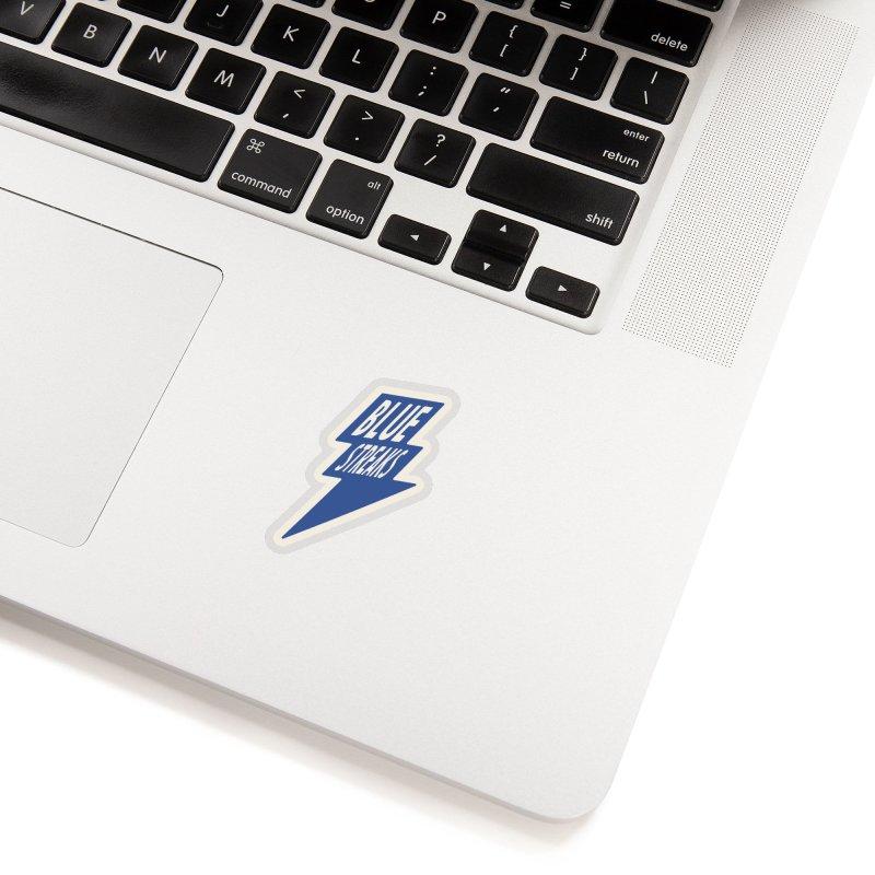 Blue Streaks Lightning Bolt Accessories Sticker by Shop Sandusky Ink & Cloth