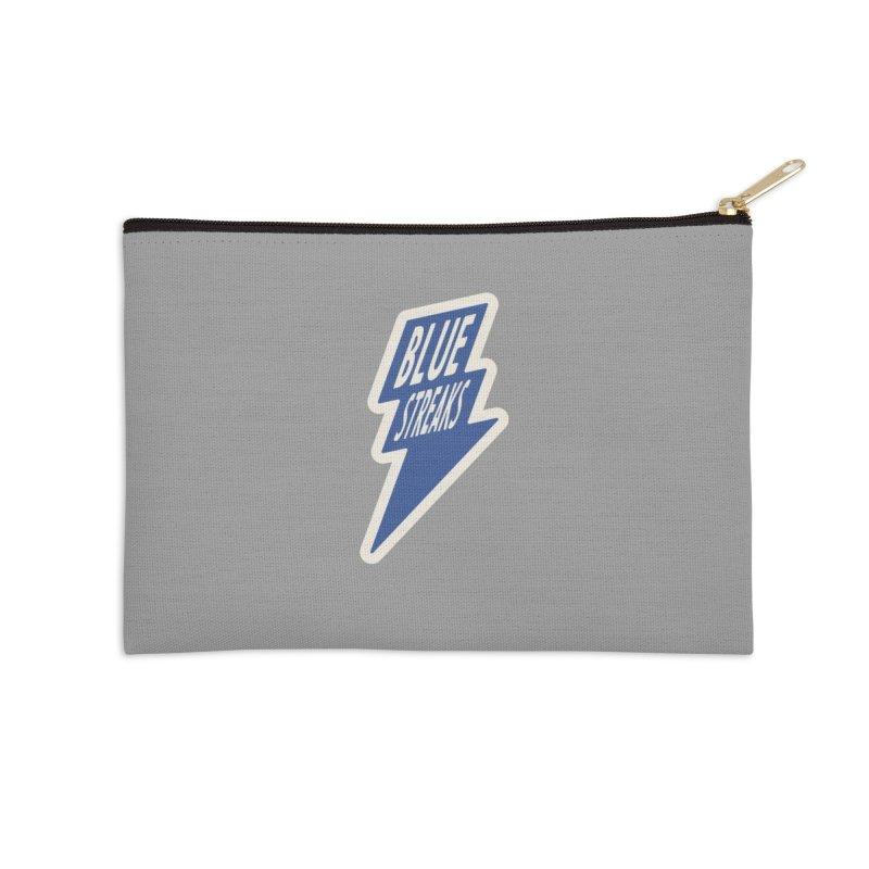 Blue Streaks Lightning Bolt Accessories Zip Pouch by Shop Sandusky Ink & Cloth