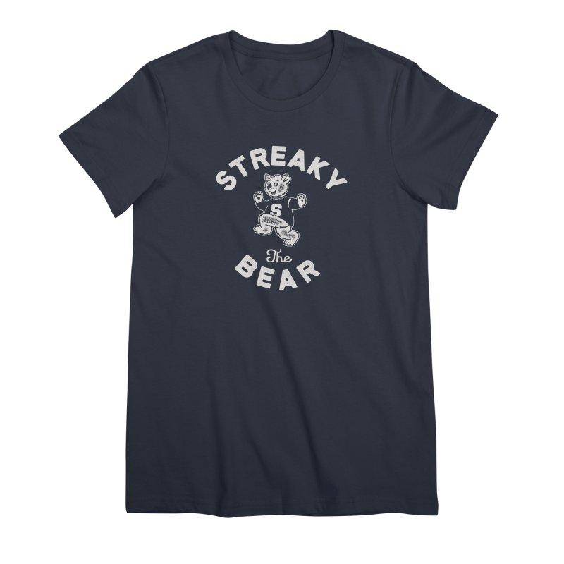 Streaky (the) Bear Women's Premium T-Shirt by Shop Sandusky Ink & Cloth