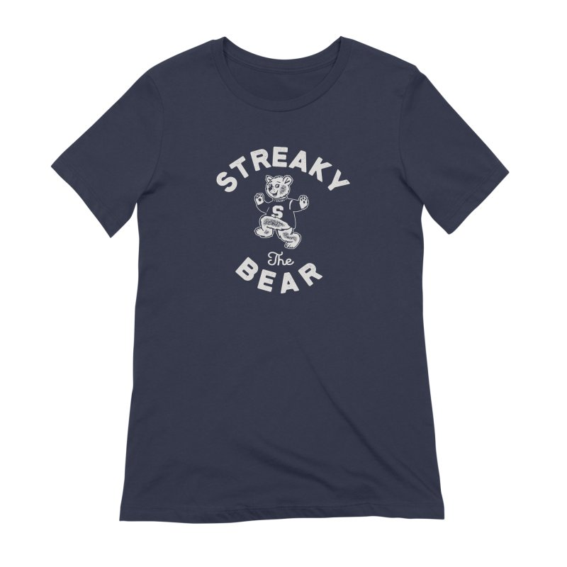 Streaky (the) Bear Women's Extra Soft T-Shirt by Shop Sandusky Ink & Cloth