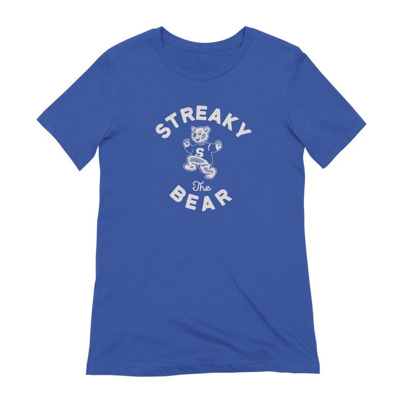 Streaky (the) Bear Women's Extra Soft T-Shirt by Shop Sandusky Ink & Cloth