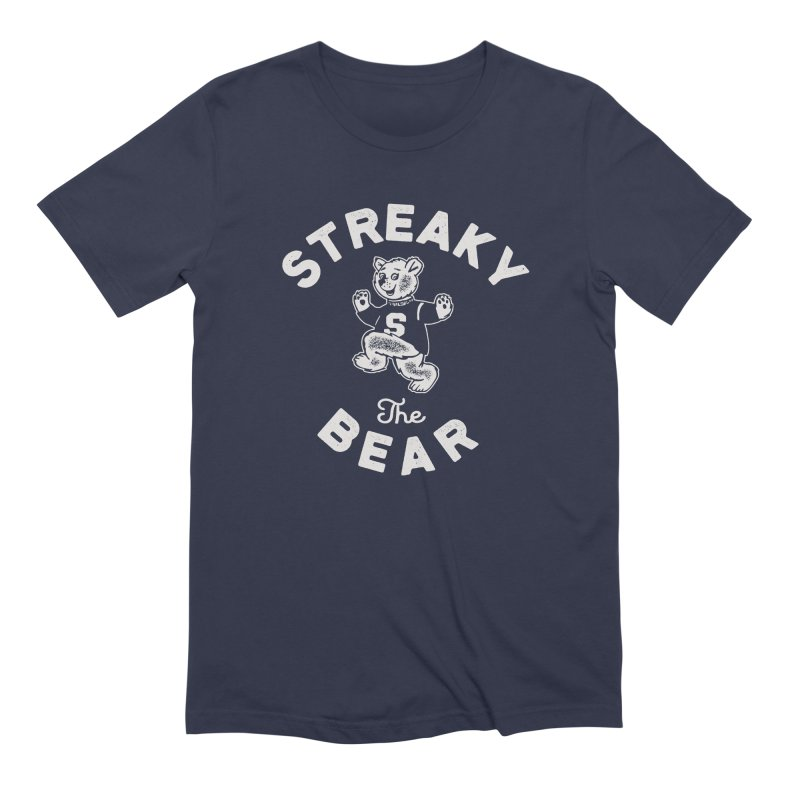 Streaky (the) Bear Men's Extra Soft T-Shirt by Shop Sandusky Ink & Cloth