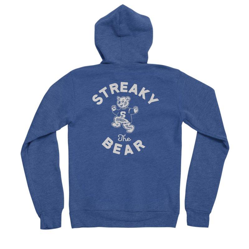 Streaky (the) Bear Men's Sponge Fleece Zip-Up Hoody by Shop Sandusky Ink & Cloth