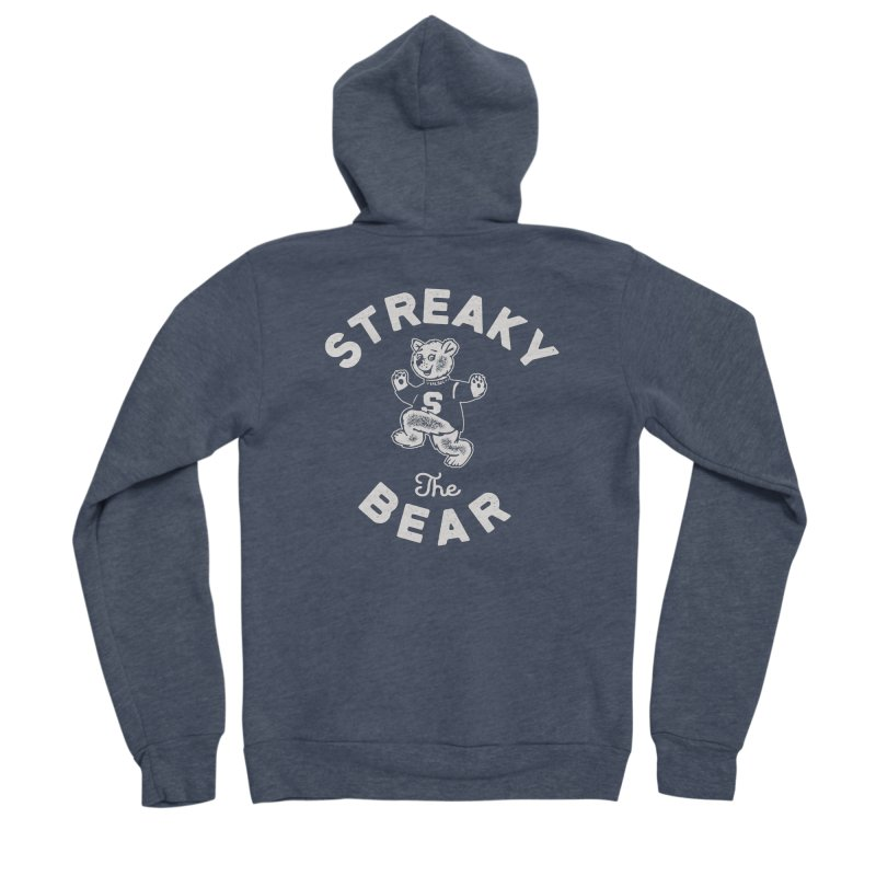 Streaky (the) Bear Women's Sponge Fleece Zip-Up Hoody by Shop Sandusky Ink & Cloth