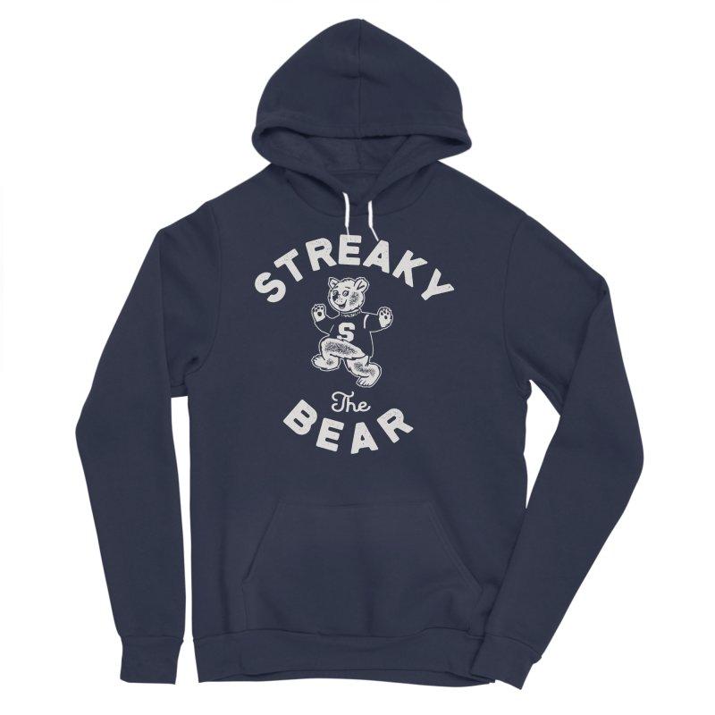 Streaky (the) Bear Men's Sponge Fleece Pullover Hoody by Shop Sandusky Ink & Cloth