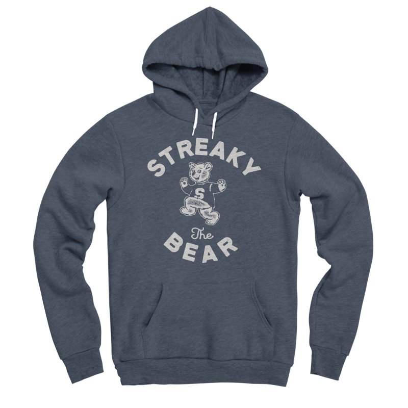 Streaky (the) Bear Men's Sponge Fleece Pullover Hoody by Shop Sandusky Ink & Cloth