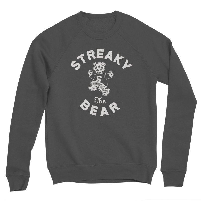 Streaky (the) Bear Women's Sponge Fleece Sweatshirt by Shop Sandusky Ink & Cloth