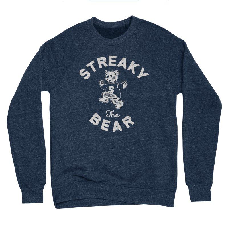 Streaky (the) Bear Men's Sponge Fleece Sweatshirt by Shop Sandusky Ink & Cloth