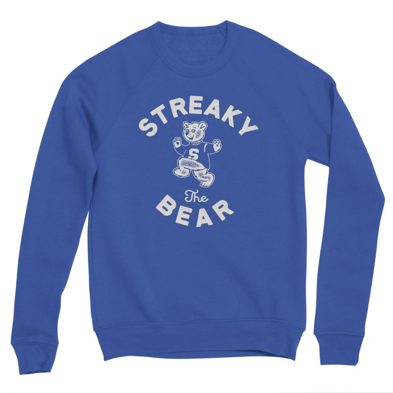 Streaky (the) Bear Men's Sponge Fleece Sweatshirt by Shop Sandusky Ink & Cloth