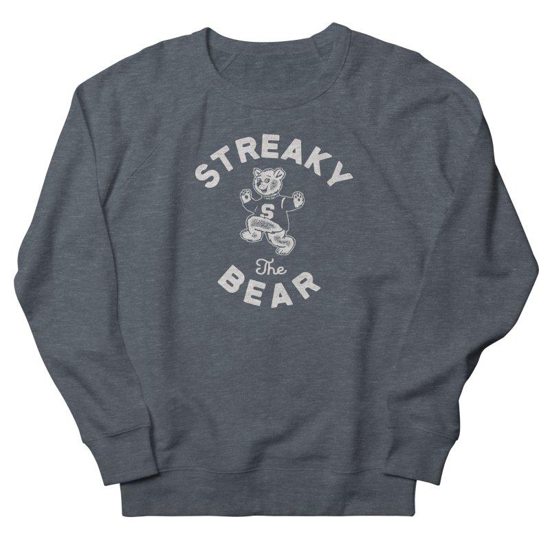 Streaky (the) Bear Men's French Terry Sweatshirt by Shop Sandusky Ink & Cloth