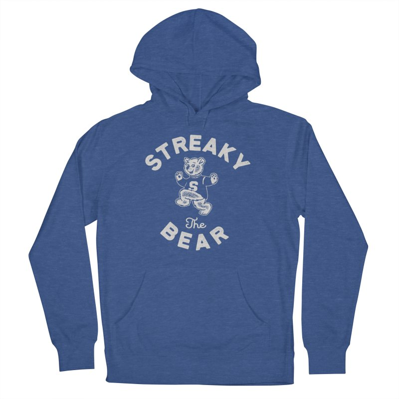 Streaky (the) Bear Men's French Terry Pullover Hoody by Shop Sandusky Ink & Cloth