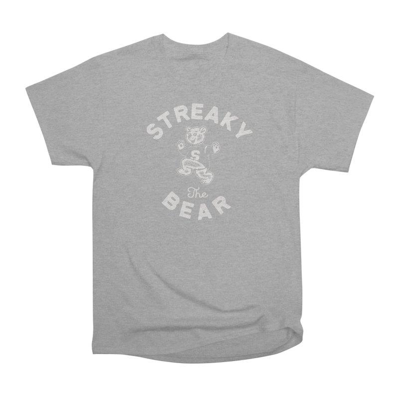 Streaky (the) Bear Men's Heavyweight T-Shirt by Shop Sandusky Ink & Cloth