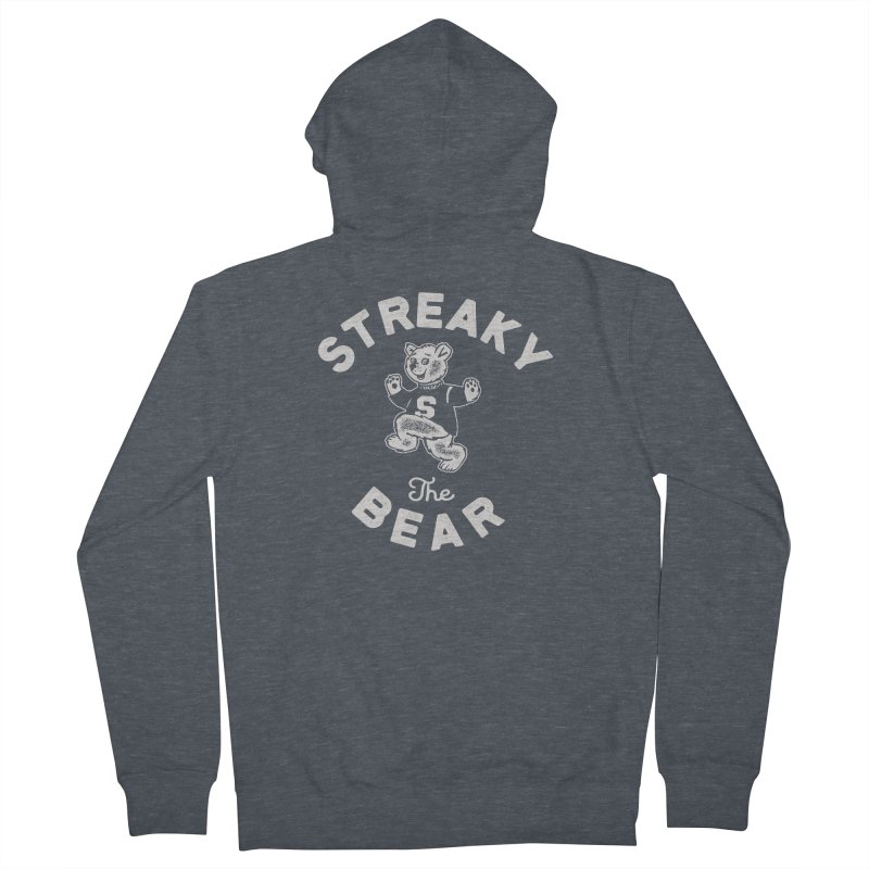 Streaky (the) Bear Men's French Terry Zip-Up Hoody by Shop Sandusky Ink & Cloth