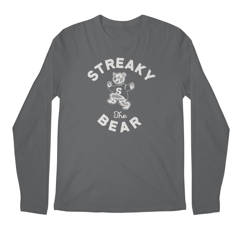 Streaky (the) Bear Men's Regular Longsleeve T-Shirt by Shop Sandusky Ink & Cloth