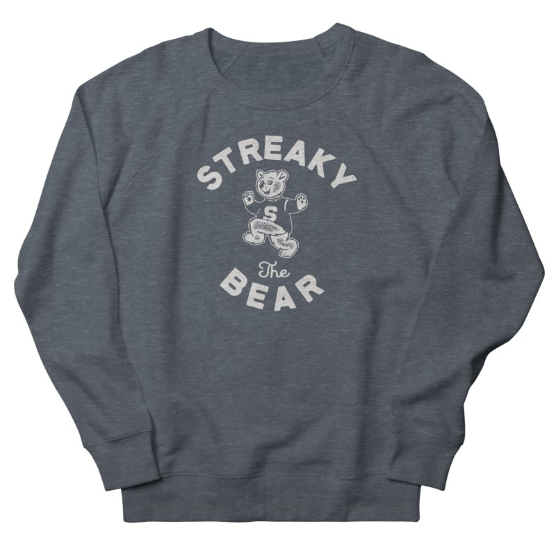 Streaky (the) Bear Women's French Terry Sweatshirt by Shop Sandusky Ink & Cloth