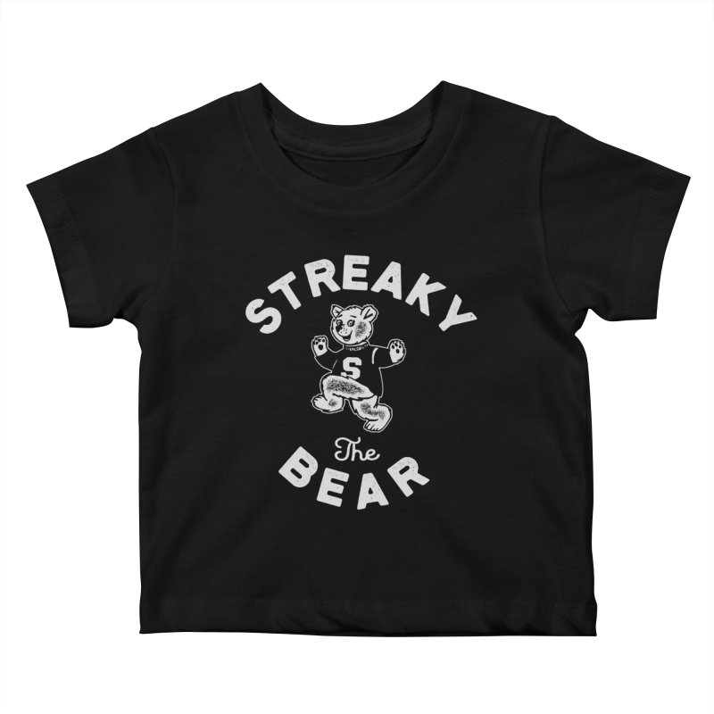 Streaky (the) Bear Kids Baby T-Shirt by Shop Sandusky Ink & Cloth