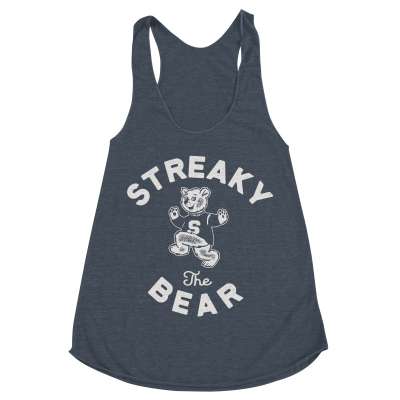 Streaky (the) Bear Women's Racerback Triblend Tank by Shop Sandusky Ink & Cloth