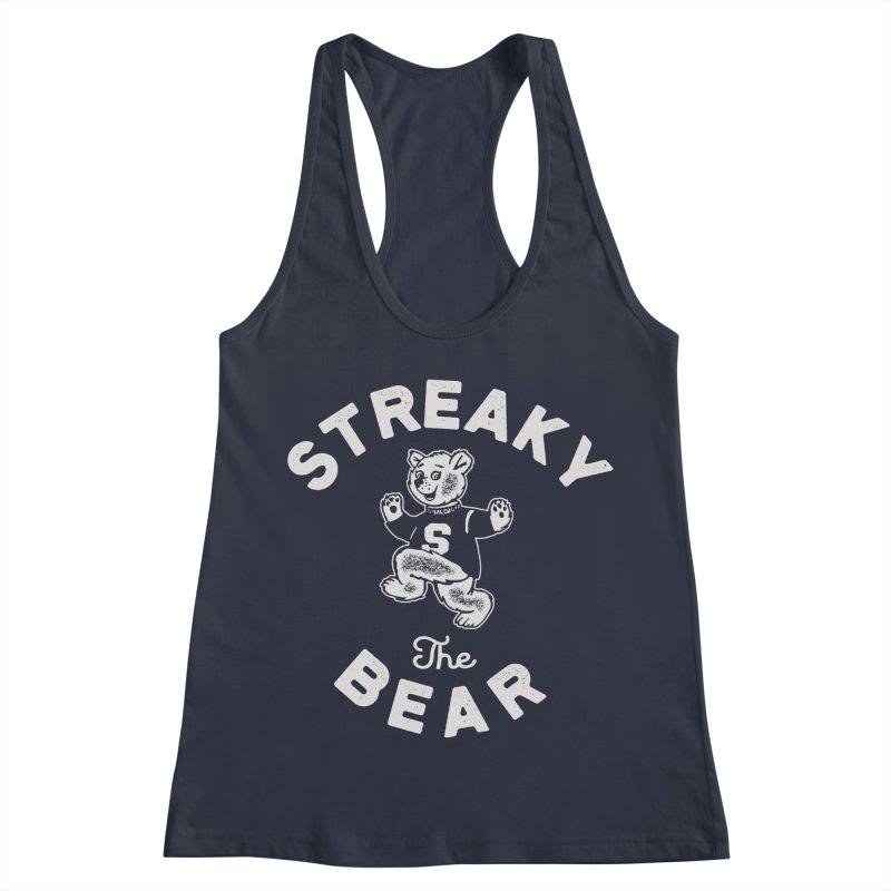 Streaky (the) Bear Women's Racerback Tank by Shop Sandusky Ink & Cloth