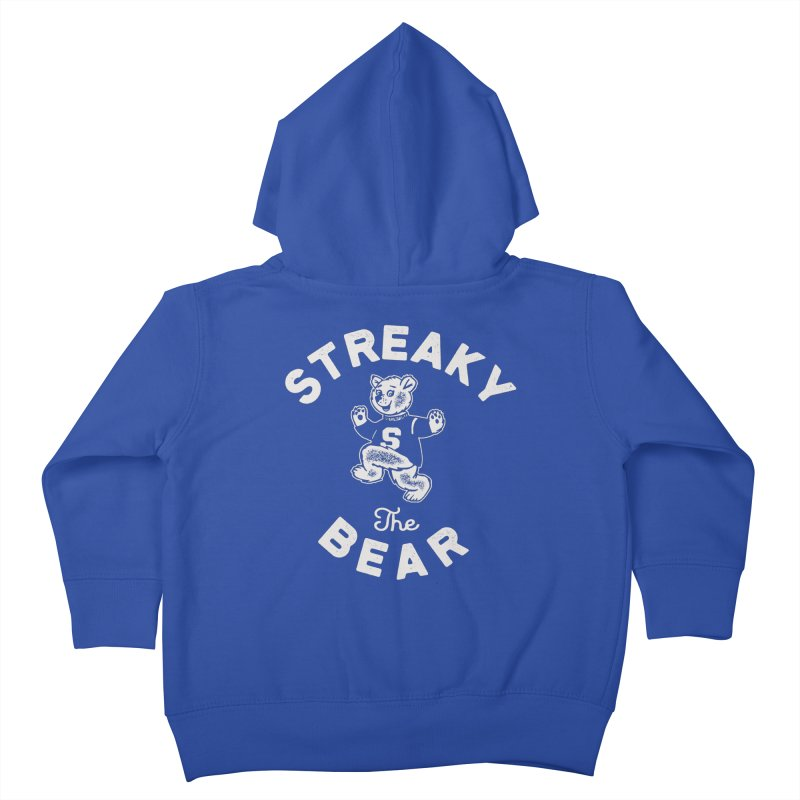 Streaky (the) Bear Kids Toddler Zip-Up Hoody by Shop Sandusky Ink & Cloth