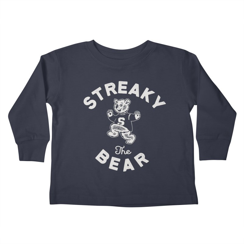 Streaky (the) Bear Kids Toddler Longsleeve T-Shirt by Shop Sandusky Ink & Cloth