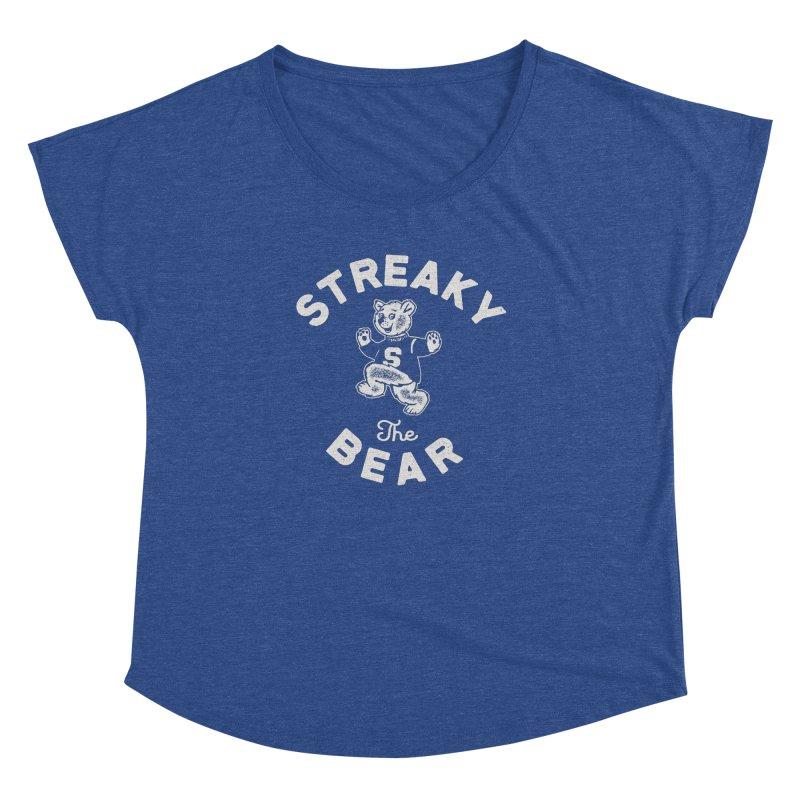 Streaky (the) Bear Women's Dolman Scoop Neck by Shop Sandusky Ink & Cloth