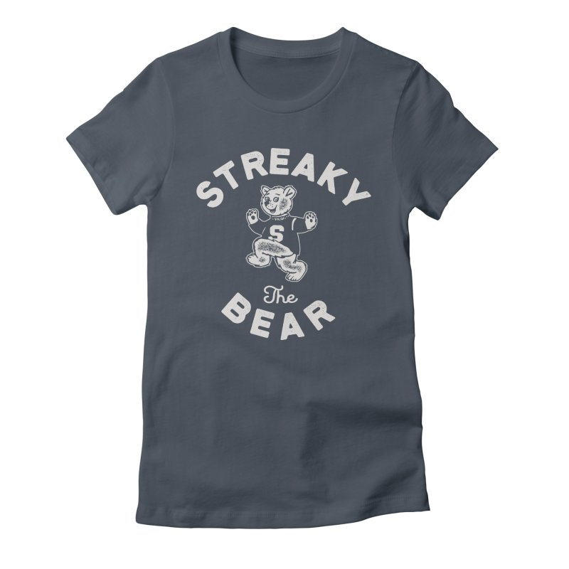 Streaky (the) Bear Women's Fitted T-Shirt by Shop Sandusky Ink & Cloth