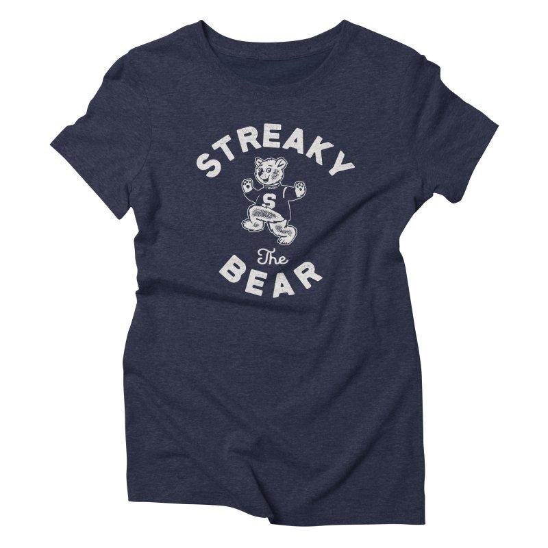 Streaky (the) Bear Women's Triblend T-Shirt by Shop Sandusky Ink & Cloth