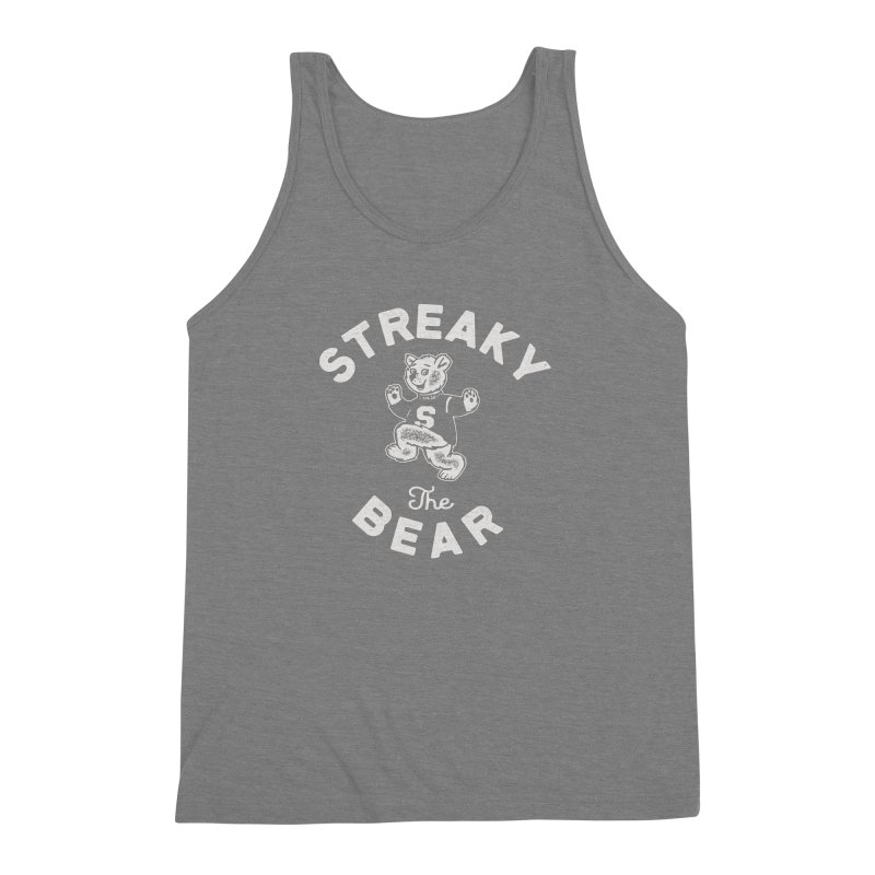 Streaky (the) Bear Men's Triblend Tank by Shop Sandusky Ink & Cloth