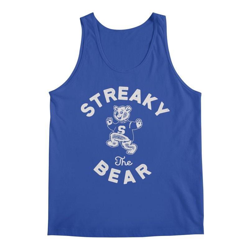 Streaky (the) Bear Men's Regular Tank by Shop Sandusky Ink & Cloth