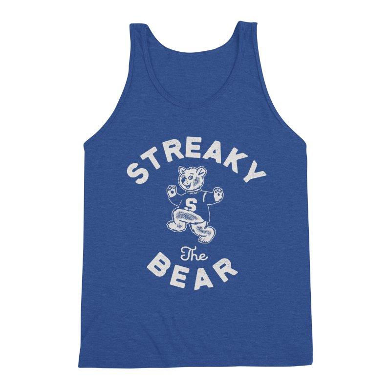 Streaky (the) Bear Men's Triblend Tank by Shop Sandusky Ink & Cloth