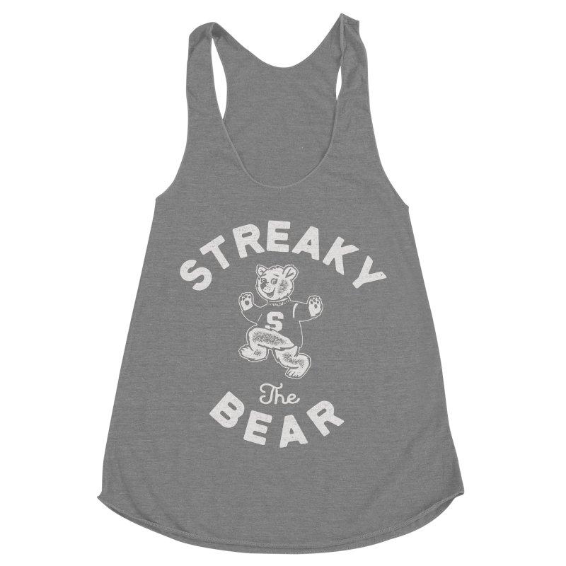 Streaky (the) Bear Women's Racerback Triblend Tank by Shop Sandusky Ink & Cloth