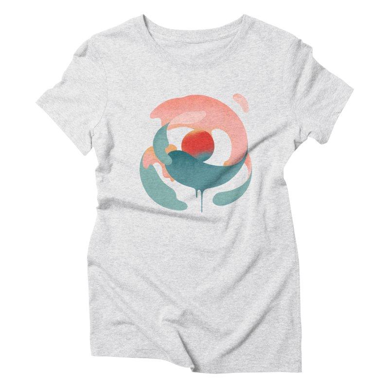 Under The Influence Women's Triblend T-Shirt by sandwich's Artist Shop