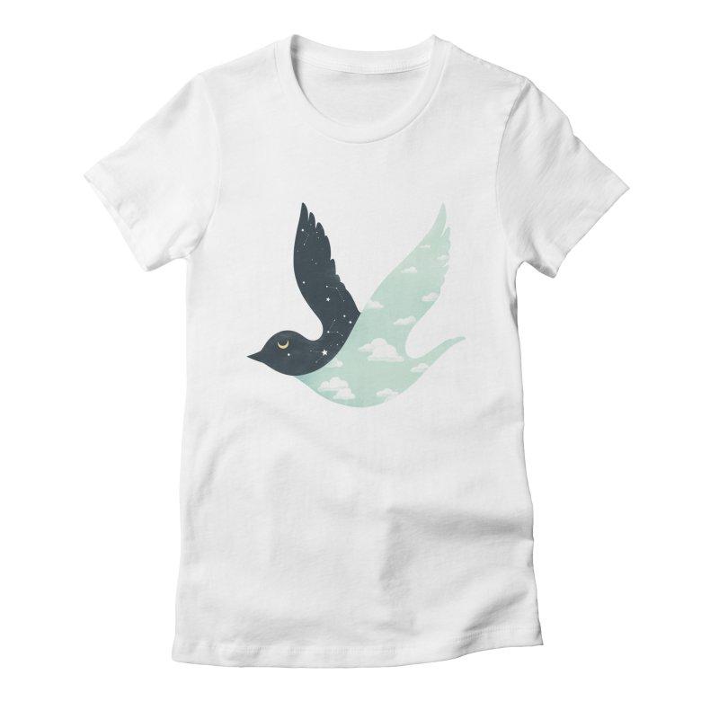Bipolar Bird Women's Fitted T-Shirt by sandwich's Artist Shop