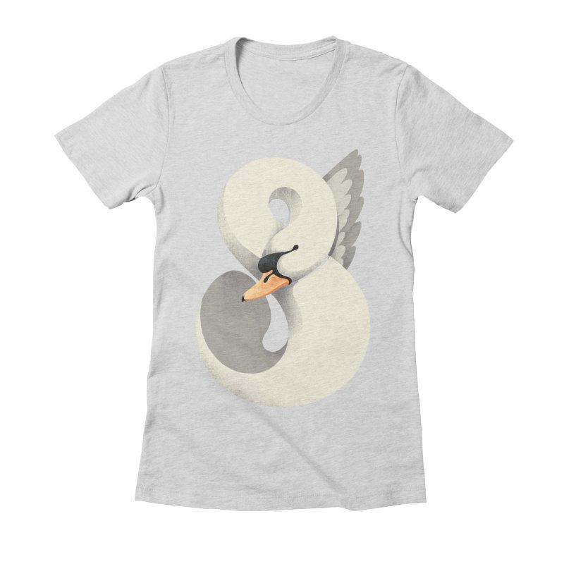 Untamed Elegance Women's Fitted T-Shirt by sandwich's Artist Shop