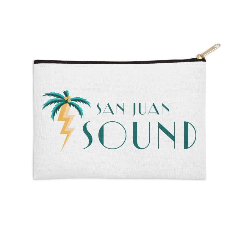 San Juan Sound Logo Accessories Zip Pouch by San Juan Sound's Shop