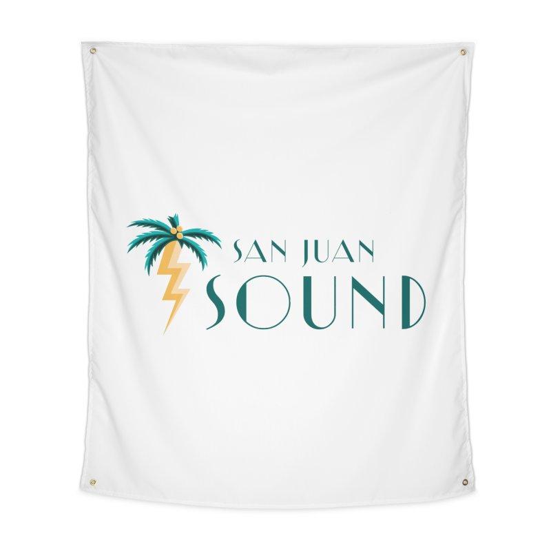 San Juan Sound Logo Home Tapestry by San Juan Sound's Shop